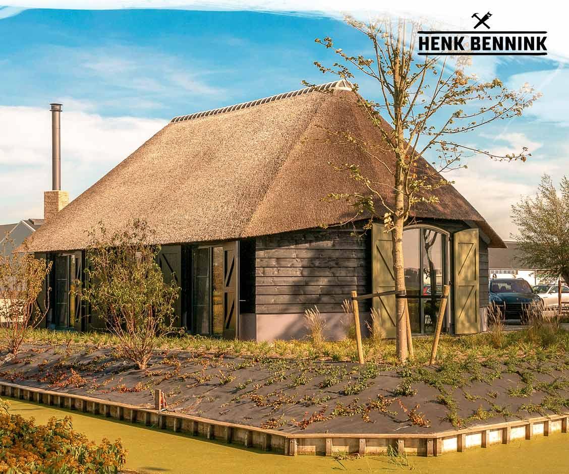 Douglas Houten Kantoor in Schaapskooistijl in Sliedrecht gerealiseerd door Henk Bennink Exclusieve Houtbouw
