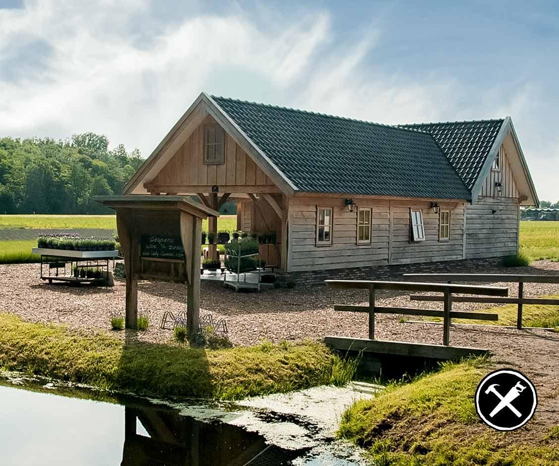 Eiken Winkel met keuken in Noordwijlk gerealiseerd door Henk Bennink Exclusieve Houtbouw