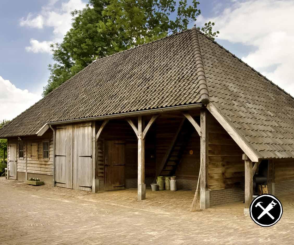 Houten Schuur met paardenstal in Herxen gerealiseerd door Henk Bennink Exclusieve Houtbouw